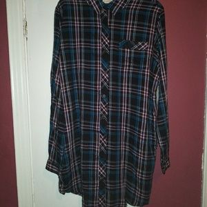 Long sleeve Button Up Dress Size L